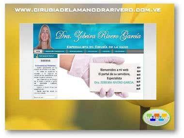 Diseño web www.cirugiadelamanodrarivero.com.ve