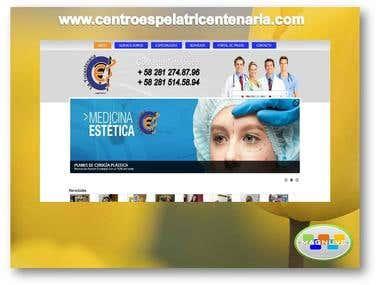 Diseño web www.centroespelatricentenaria.com