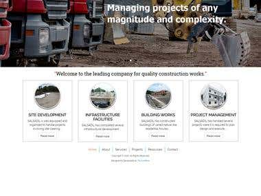 Construction company website design