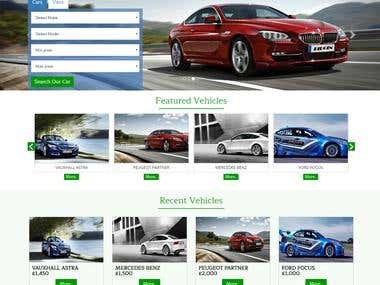 Car Website design and development