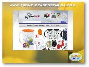 Diseño web www.promoideascostarica.com