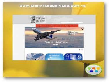 Diseño web www.emiratesbusiness.com.ve