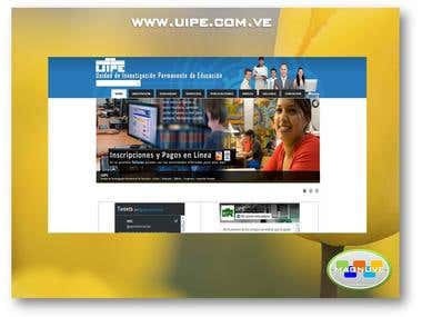 Diseño web www.uipe.com.ve