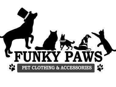 Funky Paws Pets - Logo