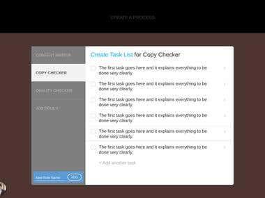 UI for a Content Publishers' Platform