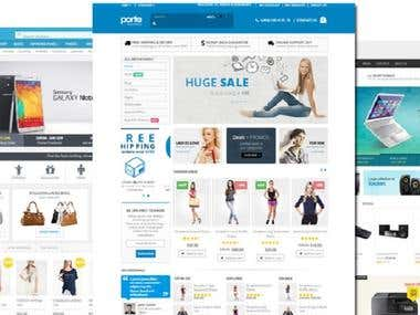 E-Commerce Responsive website