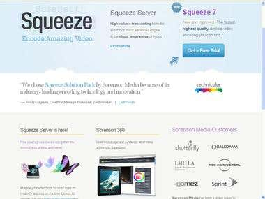 Squeeze Media Web Project