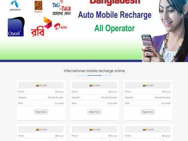 International Utility Bills , Mobile recharge Website