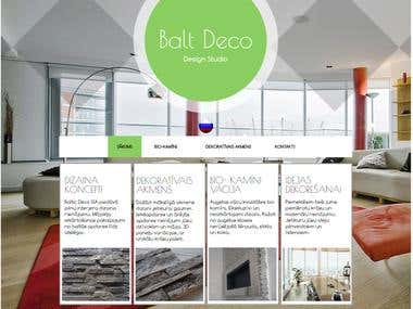 Interior Decoration website Design