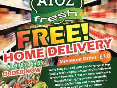 Leaflet Design for Online Vegetable Supplier Company UK
