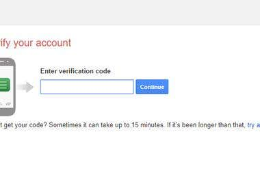 Told method to verify Gmail to hollywoodtoday