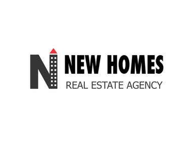 NEW HOMES real estate logo design