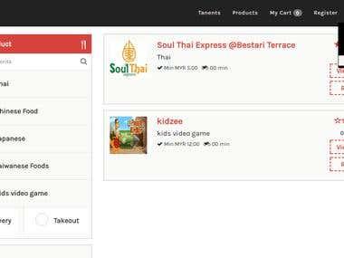 Multi Vendor E commerce Website(in cakephp)