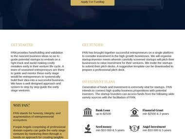 Website for an Angel Investment Network