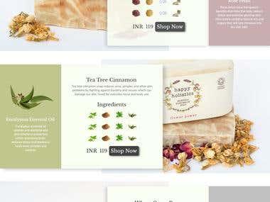 Website for a Handmade Soap Company