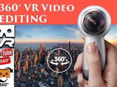 360 video and photo editing, stitching and For VR
