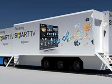 Samsung roadshow, trailer mechanism design.