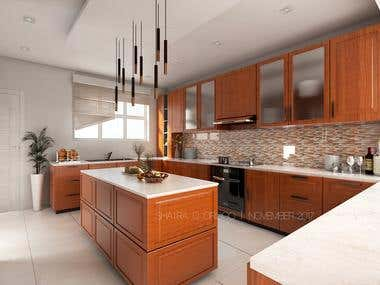 Kitchen Interior Design - 3d Model and Render