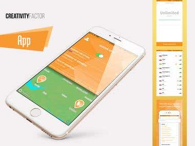 App. Design + Mockup