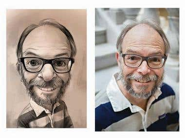Caricatures & realistic Characters