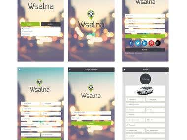 """Wsalna"" IOS & Android Apps"