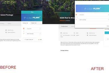Change Booking Form in a Modal View