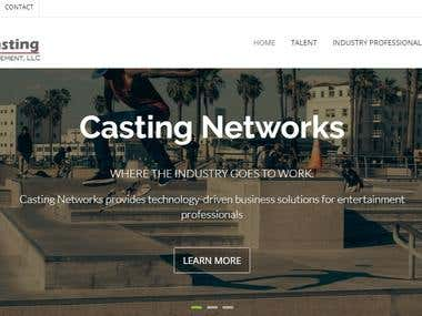 Casting Network Front and and Back End on Laravel