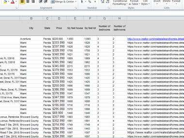 Web Scrapping in MS Excel