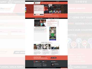 Website Design and Development for UNGALBAAZ
