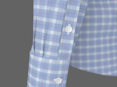 Custom men's shirt draft render close-up2