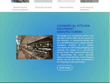 Website for kitchen Manufacturing Appliances