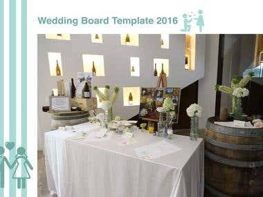 WEDDING BOARD TEMPLATE