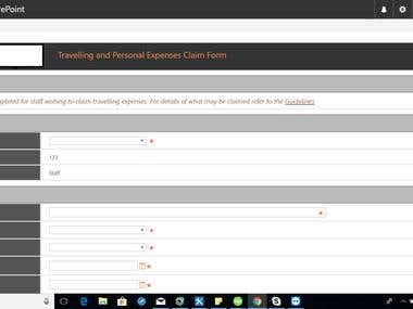 SharePoint Expense Approval System Using Client-Side