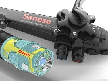 New Endoscope/Colonoscope Device 3D Visualization for Saneso