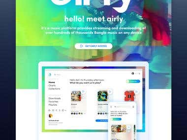 Airly Landing Page