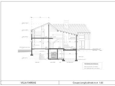 Blueprints of a single family house