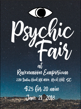 Flyer for a Local Psychic Fair