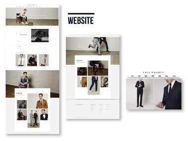 Luxury Men's wear ecommerce website design