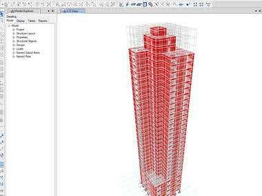 0.Seismic analysis of high rise building in ETABS