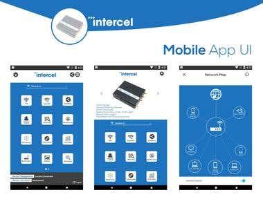 Intercel app UI