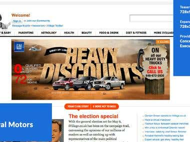 Pushdown Banner GENERAL MOTORS