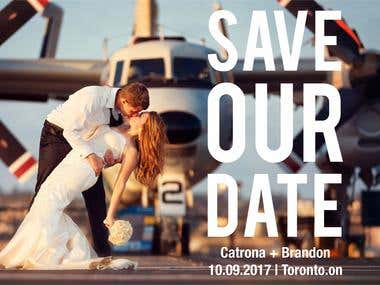 Save our Date Poster