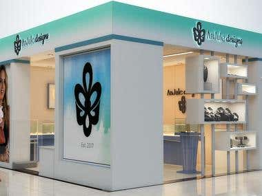 Jewelry Shop design and rendering