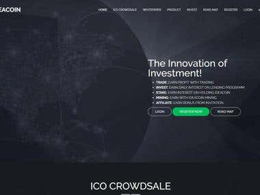 ICO Exchange website