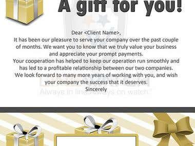 Gift Card Letter Design