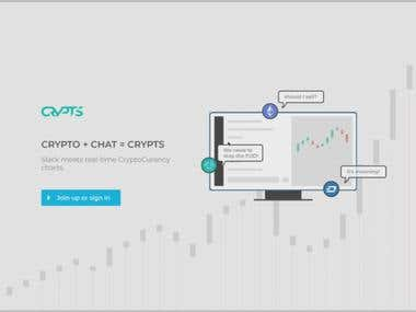 Landing Page Design(Cryptocurrency)
