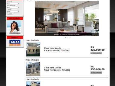 Site para imobiliárias com gerenciador de conteúdo