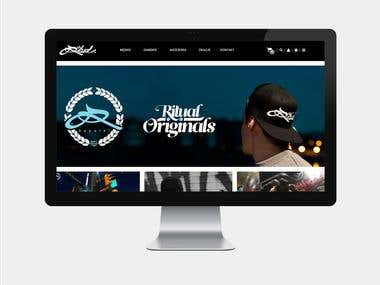 ritual-originals.com – Ecommerce site for a clothing brand