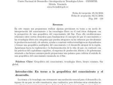 Artículo académico publicado en revista indexada.