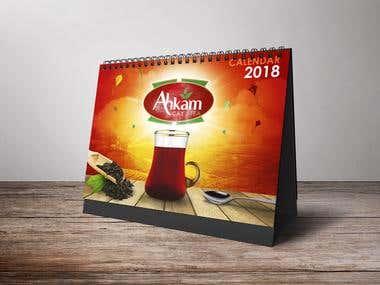 Calendar Graphics Illustration : Akham Tea branding.